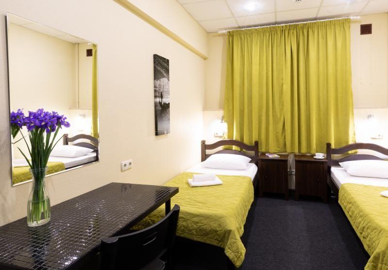 Отель Мини-отель Авиамоторная, категория 2-местный стандарт Две раздельных кровати