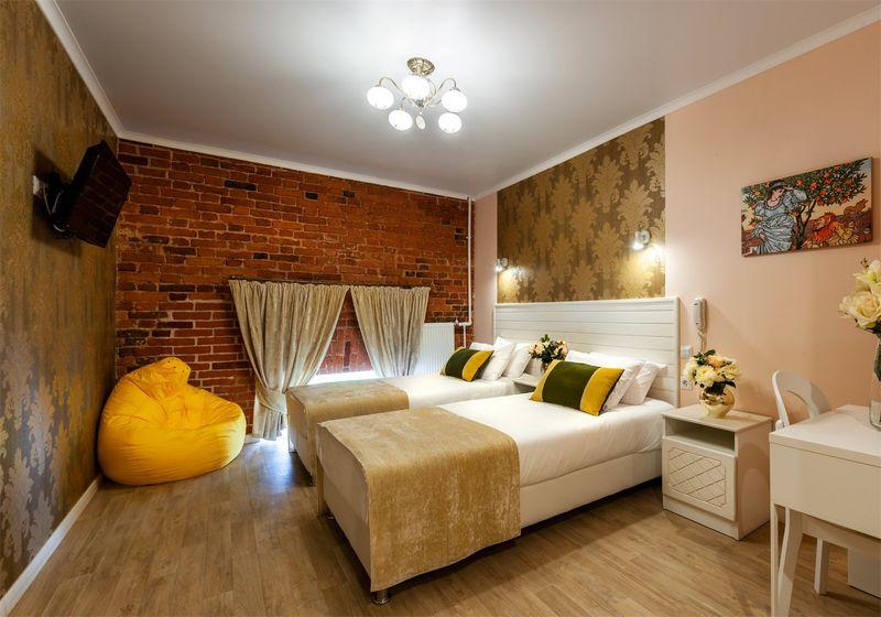 Отель Арт Деко Невский, категория стандарт  2-местный с 1 большой или 2 раздельными кроватями