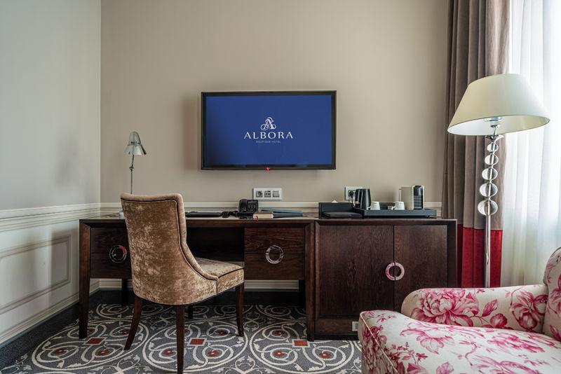 Отель Альбора бутик-отель, категория стандартный номер комфорт с одной кроватью или двумя раздельными