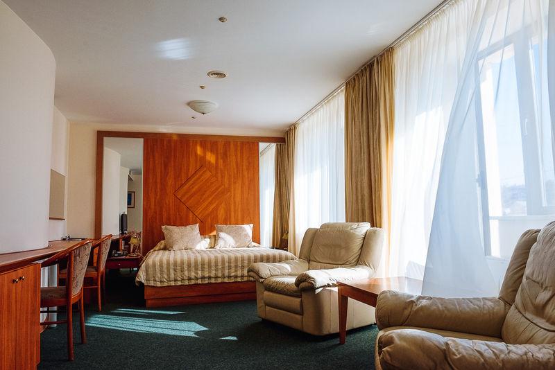 Отель Виктория Палас, категория студия Семейная (две двуспальные кровати)